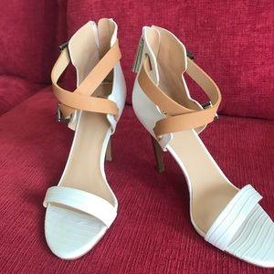 Stunning White Strappy Sandal Heel